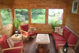 rustic sunroom rustic with wood flooring decorative pillows throw furniture o14 furniture