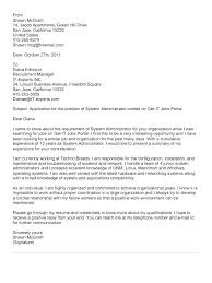 Systems Admin Resumes System Administrator Cover Letter Examples Entry Level System