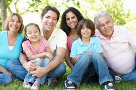 hispanic family activities. Multi Generation Hispanic Family Standing In Park Activities