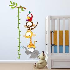 Baby Height Wall Chart Baby Height Chart Wall Sticker Nursery Baby Nursery
