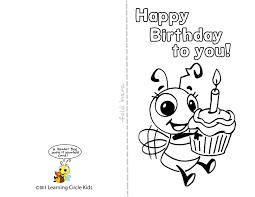 Free greeting card and envelope templates for kids to print out and craft into greeting cards for birthdays, mother's day, father's day, valentine's day, and other special occasions. Diy Free Printable Birthday Card For Kids To Decorate And Write Their Own Messa Coloring Birthday Cards Happy Birthday Cards Printable Happy Birthday Printable