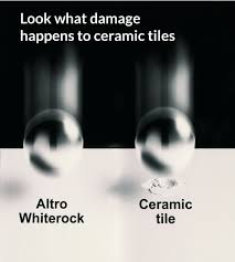 the altro whiterock wall sheet system has an extremely high impact resistance according to bs en438 2 1991 steel ball test see image