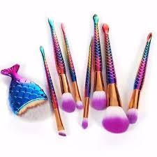 unicorn brush sets. mermaid makeup brushes - 8 pc set unicorn brush sets b