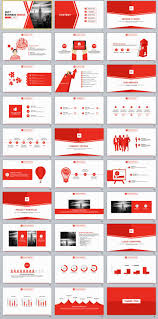 Red Ppt 30 Red Business Powerpoint Template