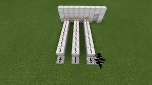make block arrangement like this in the back and create redstone arrangement like this