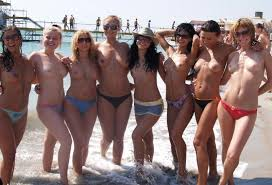 Group of girl friends naked