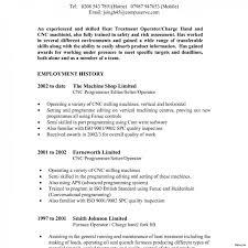 Machine Operator Job Description For Resume Cnc Machine Operator Resume Sample Beautiful Job Template Summer 58