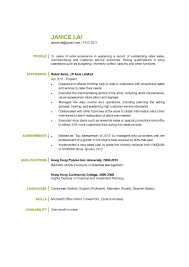 cv sample retail sales cv ctgoodjobs powered by career times