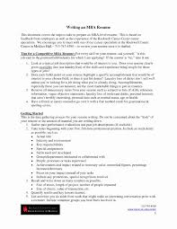 Business School Resume Sample Mba Application Resume Fresh Columbia Business School Resume Sample 59