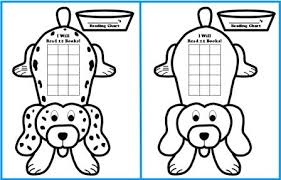 Reading Sticker Chart Free Sticker Chart Templates Dog Shaped Reading Sticker