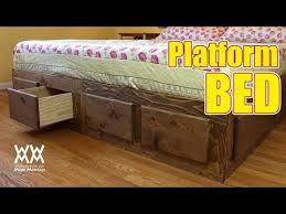 king platform storage bed. Make A King Sized Bed Frame With Lots Of Storage! Platform Storage D