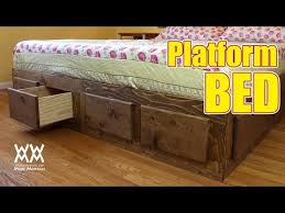 make a king sized bed frame with lots of storage