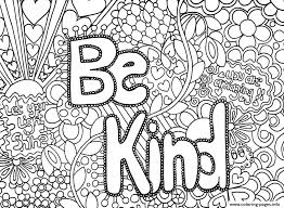 Be Kind Coloring Page Be Kind Word Coloring Pages Printable Quote