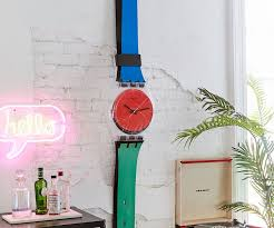 swatch maxi wall clocks dudeiwantthat com