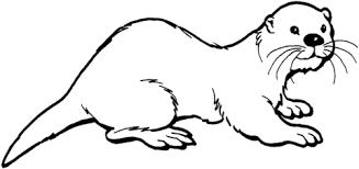 Otter 2 Coloring Page Gyerek Szinezők