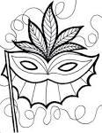 Театральная маска раскраски