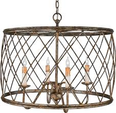 luxury french country bronze drum cage chandelier uql2261 york dover 4 light