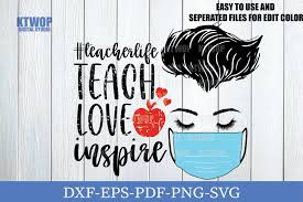 These were designed as page edges but would work well as smaller decorative elements too. Teacher Love Inspire Svg Download Free And Premium Svg Cut Files
