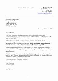 Sample Cover Letter For Resume Change Of Career Inspirational