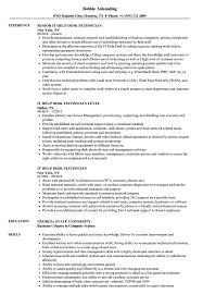 Help With Resume IT Help Desk Technician Resume Samples Velvet Jobs 29