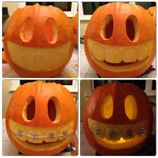 Pumpkin with braces :)  Halloween PumpkinsHalloween DecorationsHolidays ...