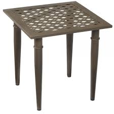 hampton bay oak cliff metal outdoor side table 176 411 20et the inside outdoor side table