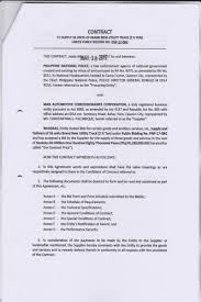 Supply Agreement Contract Notice To Proceed And Supply Contract Relative To The Supply And 21