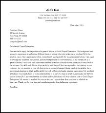 General Resume Cover Letter Sample Filename Metal Spot Price