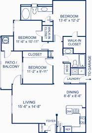 Blueprint of 3.2A Floor Plan, 3 Bedrooms and 2 Bathrooms at Camden Silo  Creek