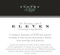 Eleven Contemporary Kitchen Restaurant Elevens 10th Anniversary Will Benefit Just Harvest
