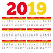 pdf printable calendar printable calendar 2019 pdf