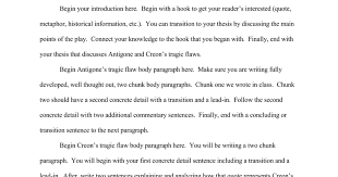 antigone tragic hero essay conclusion antigone tragic hero essay conclusion