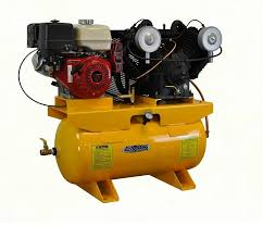 gas air compressor. emax heavy industrial 13-hp honda electric start 30-gallon horizontal 2-stage gas air compressor 5