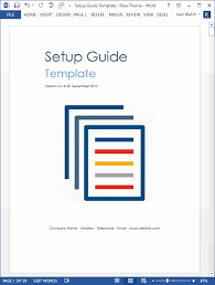Microsoft Word Study Guide Template Setup Guide Template My Software Templates