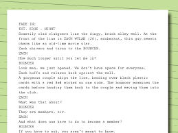 how to write movie scripts examples wikihow