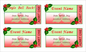 Free Templates For Tickets Christmas Tickets Templates Free Fun For Christmas Halloween