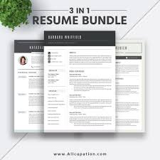 2019 Best Selling Resume Bundle The Barbara Rb Modern Resume Design Cv Bundle Job Resume Template Cover Letter Ms Word Creative Resume Instant