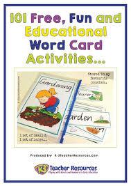 Activities Word 101 Fun And Educational Vocabulary Word Card Activities