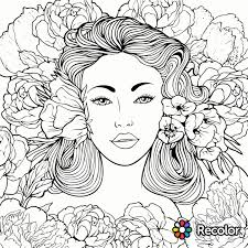 Beauty Coloring Page Recolor App