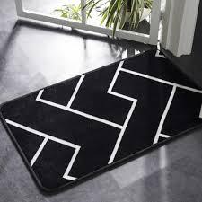 Carpet Mat Design Tpfocus Solid Rugs Simple Black White Color Carpet Thicker Geometric Pattern Soft Non Slip Carpet Mat For Table 40 60cm Shaw Berber Carpet Discount
