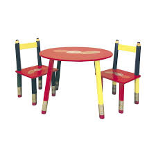 ore international red round kid s play table