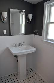 grey and white small bathroom. bathroom white walls black accent | like charcoal aren\u0027t often the color of choice grey and small