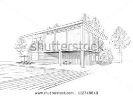 modern architecture sketch. Drawn House Modern #14 Architecture Sketch 3