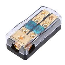 150a 2 ways out car audio power block fuse holder safety fuse box image is loading 150a 2 ways out car audio power block