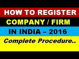 How To Register A Company How To Register A Company Or Firm In India Step By Step Procedure