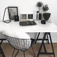 black white home office inspiration. for more home office inspiration follow me justabossgirl i back _ black white