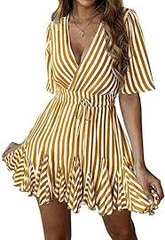 Inc Dress Size Chart Womens Sexy Deep V Neck Short Sleeve Striped Tunic Party