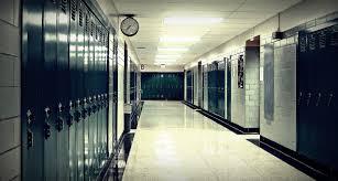 hallway at school. school hallway at