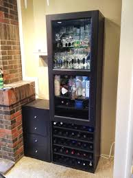 the wine racks liquor cabinet ikea wall mounted with locking bar and ideas