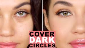 how to cover dark circles and bags